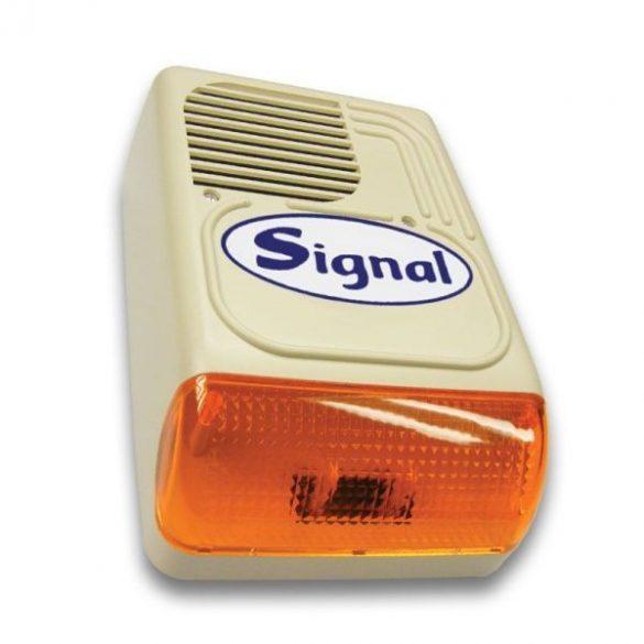 Signal PS-128-7 (korábban PS-128-7/Signal) kültéri hang- és fényjelző (7 hangú, 2 start bemenettel)