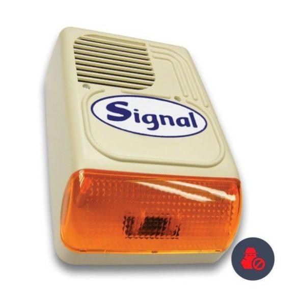 Signal PS-128-1S (korábban PS-128ASZ/Signal) kültéri hang-fényjelző (beépített kifújásvédelmi panel)